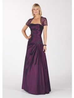 A-line Floor-length Appliqued Taffeta Mother Of the Bride Dresses