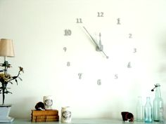 Very simple... DIY Clock Ideas for your Walls - A&D Blog