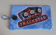 Thomas the Tank Engine Crayon Roll  Holds 816 Crayons by EmmisOwls, $5.00