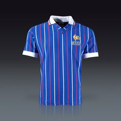 I say again... #France designs amazing kits! #Euro2012 - Toffs France Home 1980s Retro Jersey || SOCCER.COM