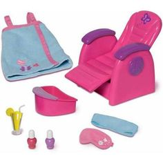 My Life As Spa Chair Play Set.  Still haven't seen it at the store but saw a youtube review.  It's around $30 and though it's not the quality of the AG spa chair it's not the price either.  So it could be another budget stretching item to help the doll budget.