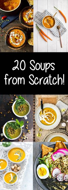 20 Soups from Scratch! champagne-tastes.com