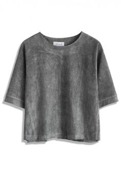 Suede will be the next big texture. I predict! Faux Suede Grey Top