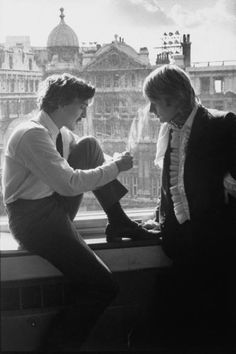 Actor David Hemmings, left, and spy novel author Adam Diment. Hemmings was slated to play Diment's mod, pot smoking, spy Philip McAlpine in the film version of The Dolly Dolly Spy. The movie was announced as a United Artists production but shelved. This picture appeared as part of a Life Magazine profile of Diment.