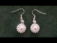 Beading4perfectionists: Classy - stunning - easy to make pearl earrings beading tutorial - YouTube