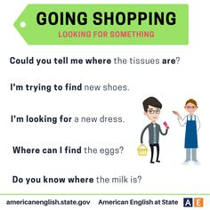 Phrases: Going Shopping - Looking for Something