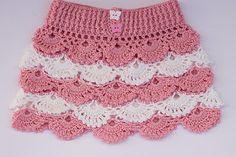 Majovel crochet: Falda de abanicos