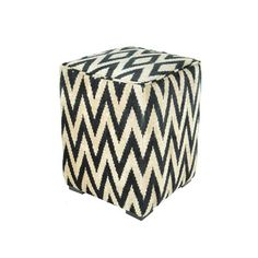 'Suri Cube Black' upholstered ottoman from Found Objects via fab.com