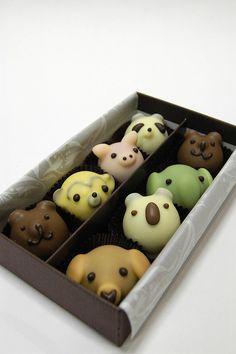 Cute chocolate animals, Goncharoff.