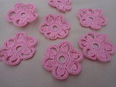 Flores de crochet faciles de hacer16