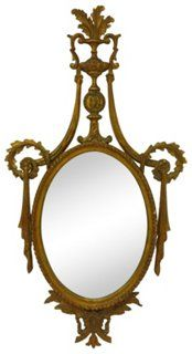 Carved &  Gilded Mirror, 1910-1950