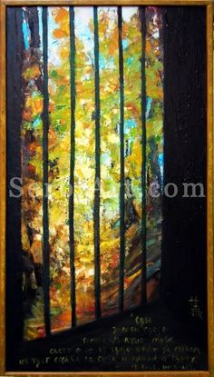 Natasa Tomic - Oil painting  All the walls of your prison