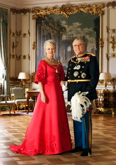 Dronning Margrete og Prins Henrik af Danmark <3 ...not too distant cousins :) .. here access to the throne is inherited by the oldest child.