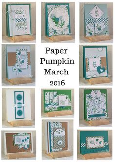 Paper Pumpkin March 2016 Alternative Projects. Debbie Henderson, Debbie's Designs.