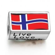 Soufeel Norway Flag Words Live Love Laugh European Charms Fit Pandora Bracelets by SOUFEEL - Shop Online for Jewellery in NZ