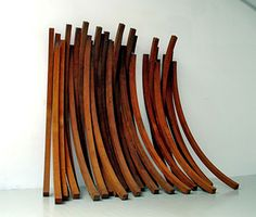 Bernar Venet, 79.5° Arc x 27, 2005, rolled steel wall relief