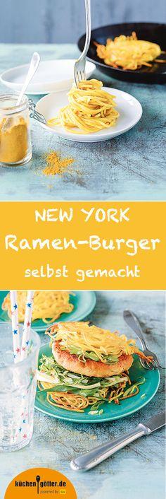 NEW-YORK-RAMEN-BURGER - Dieser Burger geht garantiert in die Geschichte der Foodtrends ein, schließlich musste man in New-York schon stundenlang anstehen, um ihn einmal probieren zu können. Für uns ist eines jetzt schon klar: Wirklich aus der Mode kommen wird der Ramen-Burger nicht mehr, dafür schmeckt er viel zu gut. Hier zeigen wir, wie ihr den berühmten Ramen-Burger zu Hause selber macht.