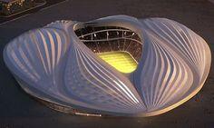 Δεκέμβρης 2013. Zaha Hadid (ιρακινο-βρετανή αρχιτέκτονας), σχεδίασε το στάδιο Al Wakrah  στο Κατάρ για το Μουντιάλ του 2022. Ένα τεράστιο αιδοίο σε μια ανδροκρατούμενη κοινωνία.