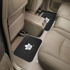 Fanmats Toronto Maple Leafs Two Pack Backseat Utility Mats, Team