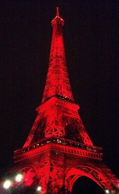 Valentine's Day Paris red Eiffel  #photography ToniK ⒷMine