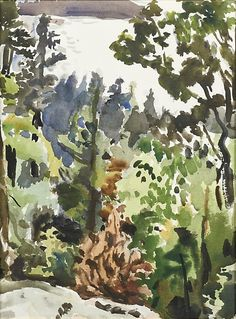 Find the latest shows, biography, and artworks for sale by Fairfield Porter. Fairfield Porter was at the forefront of post-war representational painters who … Watercolor Trees, Watercolor Sketch, Watercolor Landscape, Abstract Landscape, Landscape Paintings, Tree Paintings, Indian Paintings, Small Paintings, Watercolor Portraits