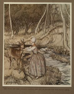 from ''Little Brother & Little Sister And Other Tales'' illus. Arthur RACKHAM | David Brass Rare Books