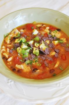Delicious Chicken Tortilla Soup.  Seriously, Chris and I inhaled it!