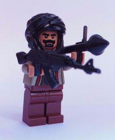 NEW CUSTOM LEGO BATMAN WEAPONS SOLDIER TALIBAN W/ TAN HEAD & HANDS TERRORIST…