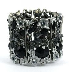 Fashionable Black Chunky Bracelet Perfect Little Dress Prom Bangle Bracelets
