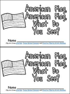 """Finding materials for Veterans Day for young students is always difficult!! With that thought in mind, I created this little book for Veterans Day in kindergarten classrooms!!  This book begins with the page """"American flag, American flag, what do you see?""""  It continues with a page for each branch of the Armed Forces. The text on each of these pages follows the pattern """"I see the men and women in the Army protecting me. There are similar pages for the Navy, Marines, Coast Guard, and Air…"""