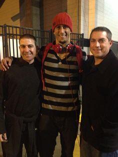 Colin Kaepernick and agents Scott Smith and Jason Bernstein (January 20, 2013)
