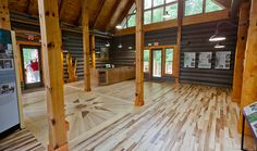 Aleen Steinberg Center, Dupont State Forest, NC– Upfit Log Cabin Interior || Form & Function Architecture ||
