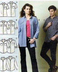 BRAND NEW! Man's Size 46-56 Palmer/Pletsch Shirt Sewing Pattern McCall's 6613 #McCalls 6613
