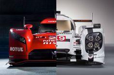 """Wie unterscheidet sich Nissans revolutionärer Nissan GT-R LM NISMO mit Frontantrieb von den anderen LMP1 von Audi, Porsche und Toyota? Zeit für einen direkten Vergleich! Stellvertretend für die """"Standard""""-LMP1 habe ... weiterlesen"""