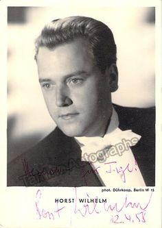 WILHEM Horst - Signed Photo Postcard