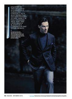 Cumberbuddy, Benedict Cumberbatch for Esquire US November...