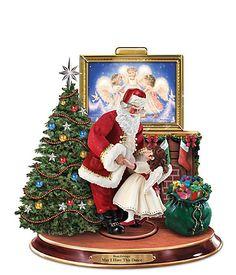 RP: Dona Gelsinger Sculpture With Dancing Santa And Angel - bradfordexchange.com
