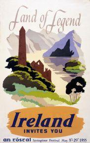 Land of Legend, Irish Travel vintage railway poster