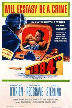 1984 - Edmond O'Brien y Jan Sterling. 1956 - Película basada en la novela de George Orwell -- (Película completa subtitulada en español).