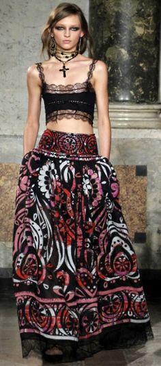 schöne lange Kleider - great prints dresses