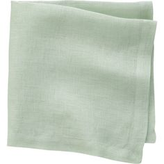 CB2 Uno Mint Linen Napkin (9.68 CAD) ❤ liked on Polyvore featuring home, kitchen & dining, table linens, fillers, linens, accessories, napkin, cb2, mint green napkins and mint green table linens