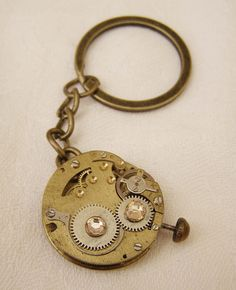 Steampunk Card Suits Key Ring, Chain Handmade Arts and Craft,  Bronze Colour by ArtandThingsUK on Etsy