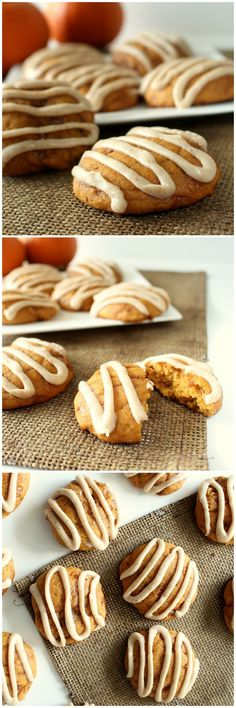 Pumpkin Toffee Cookies with Brown Butter Glaze - My favorite cookie ever!