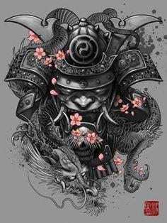 mascara samurai tattoos - Buscar con Google