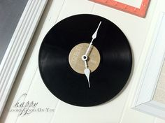 diy record clock