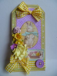 Easter tag using images from My Artistic Adventures.