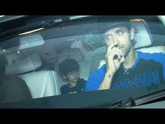 Hrithik Roshan with his kids at screening of BATMAN vs SUPERMAN movie.