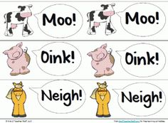 Free printables for Old MacDonald Had a Farm http://atoztea.ch/K4Yogw