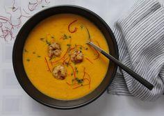 Karotten-Ingwer-Suppe mit Garnelen – GenussAtelierLang