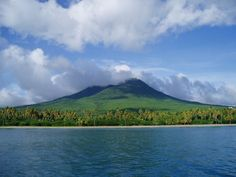 Nevis as seen from the sea..before our Palm trees died